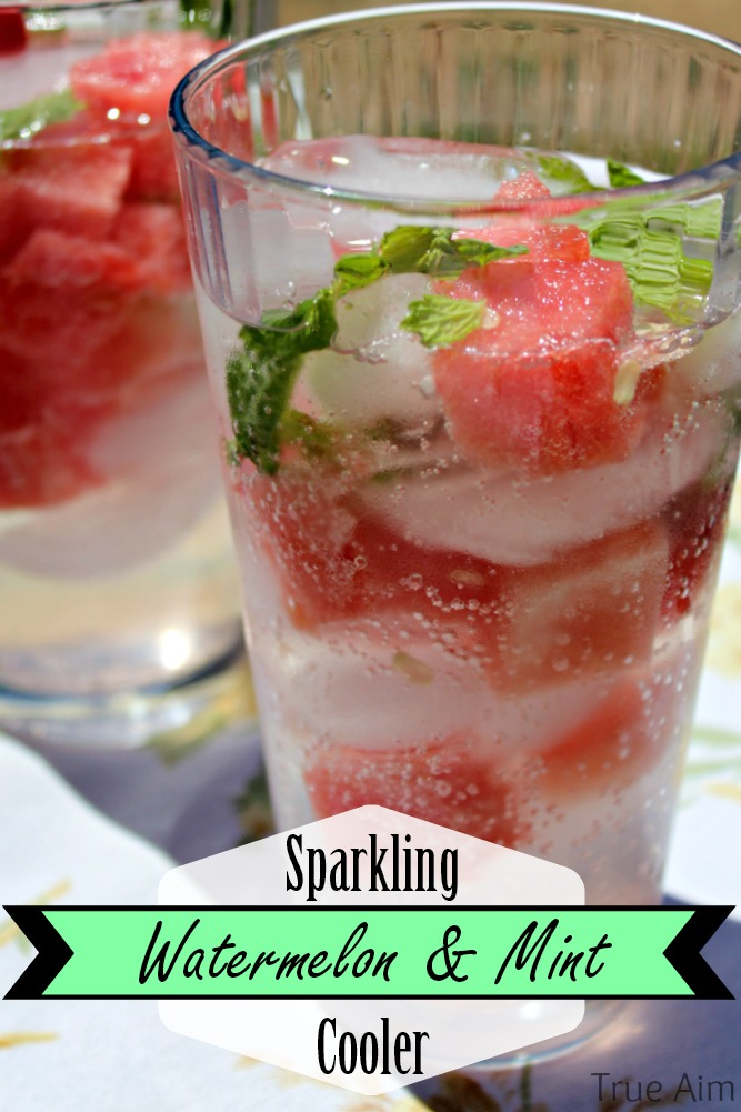 watermelon and wint cooler with Sparkling water
