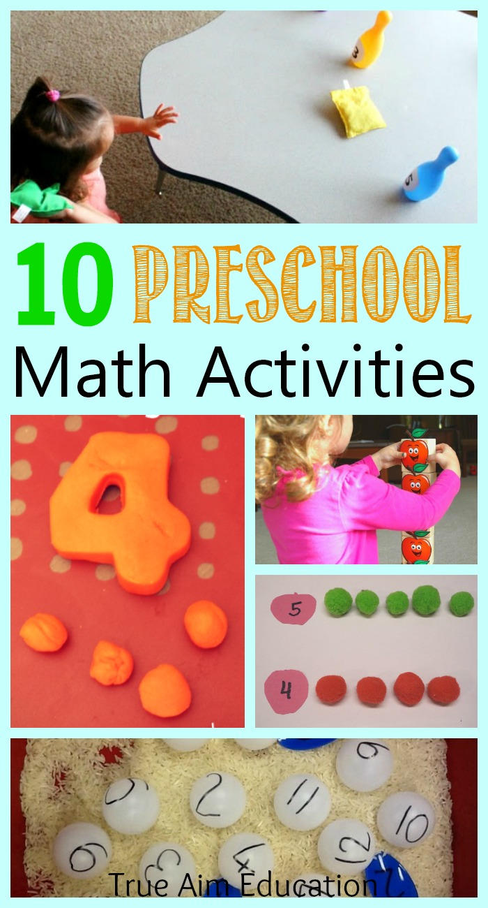 10+ Preschool Math Activities and Moms Library #106 | True Aim