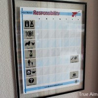 DIY Dry Erase Chore Charts for Young Children