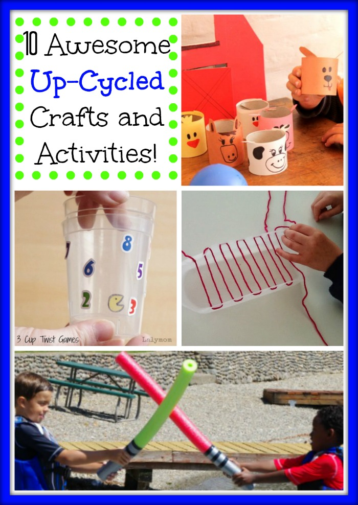 10 Totally Awesome crafts and activities made from recyclables
