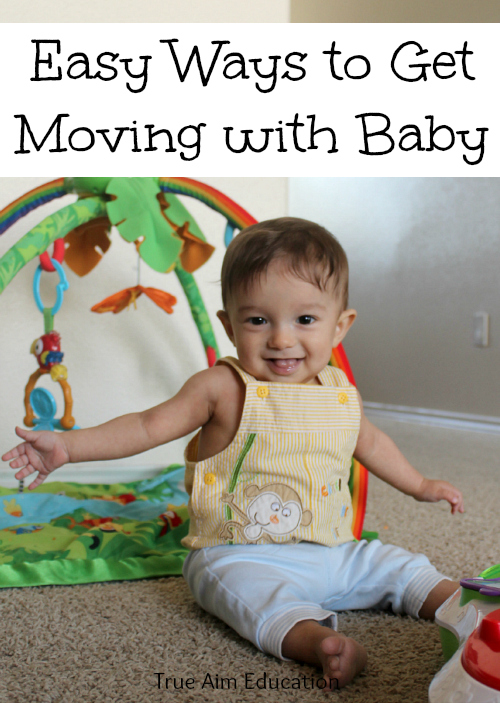 Easy exercises you can do with baby to encourage him to move.