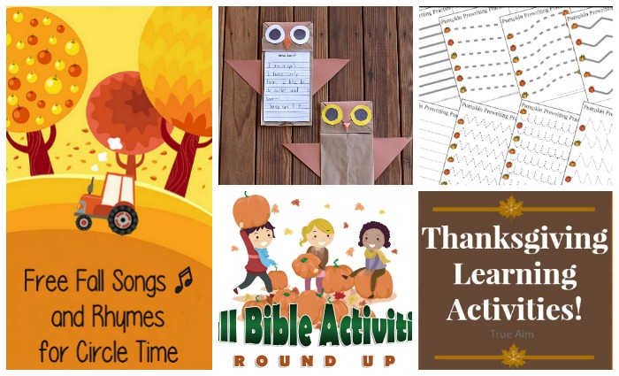 fall themed learning activities for kids