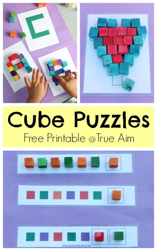 Cube Puzzle Printable