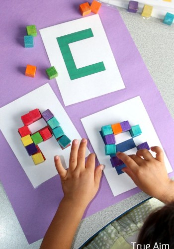 Free Alphabet, Pattern, and Shape Cube Puzzle Printables