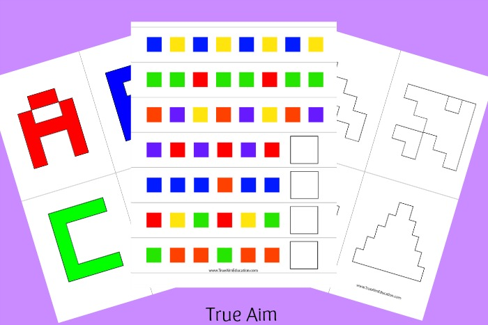 Free Worksheets preschool reading worksheets free : Free Alphabet, Pattern, and Shape Cube Puzzle Printables ...