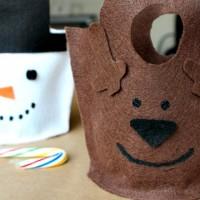 DIY No Sew Felt Gift Bags