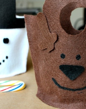 diy reindeer gift bag