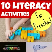 Preschool Literacy Activities and Mom's Library #110
