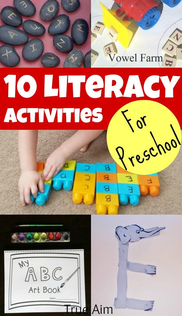 literacy activities for preschoolers preschool literacy activities and s library 110 125