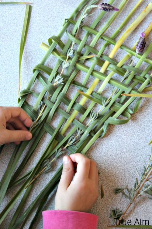 nature weaving activity for kids