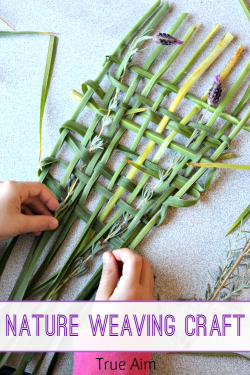 Simple Nature Weaving Craft for Kids