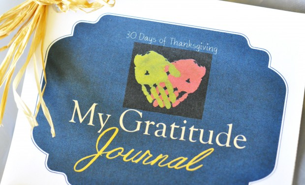 Free printable 30 Day Gratitude Journal for moms