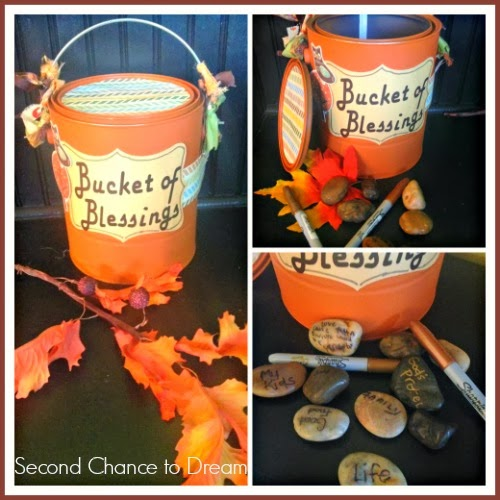 Bucket of Blessings to teach kids about being thankful