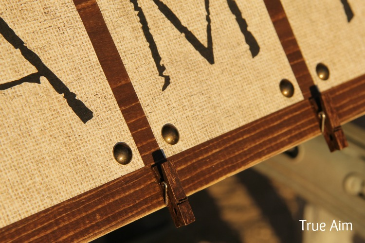 Clothespins Glued to DIY Photo Board