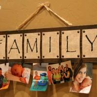 DIY Family Photo Board Tutorial