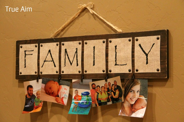 DIY Family Photo Board Decor
