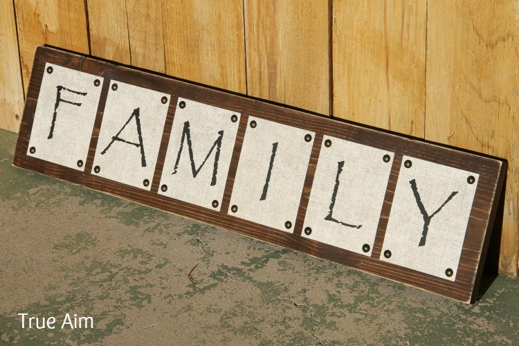 DIY Family Sign Decor