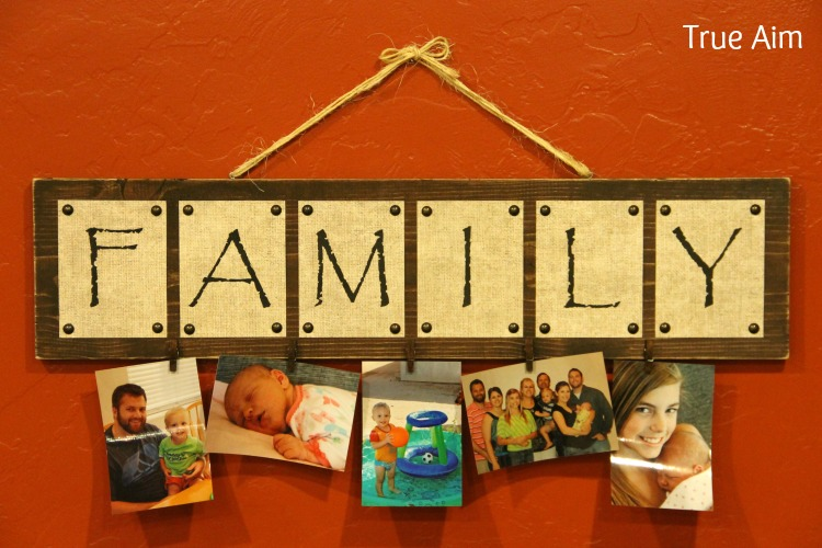 Finished DIY Family Sign