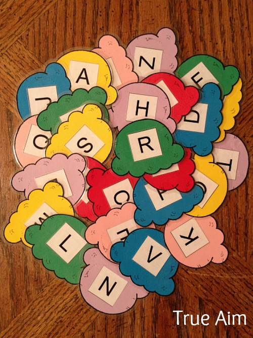 Free Preschool Alphabet Busy Bag Printables - this activity helps preschoolers recognize their capital and lowercase letters!