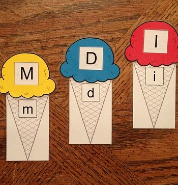 Preschool Ice Cream Alphabet Printables for Busy Bags