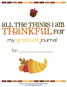 Free printable Kids Gratitude Journal with prompts and places to draw what they are thankful for