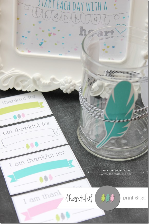 Thankful Jar with free printables for teaching kids gratitude