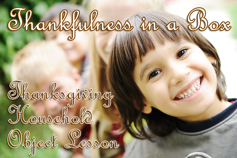 Thankfulness in a Box activity to encourage gratitude in kids
