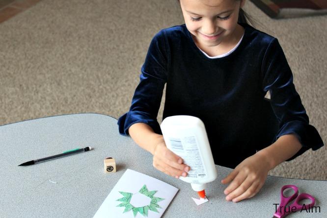 handmade christmas wreath cards kids make
