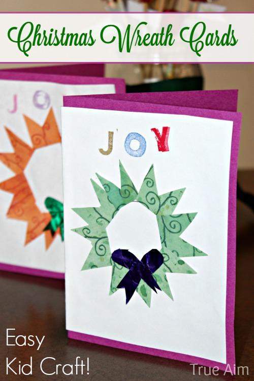 handmade christmas wreath cards