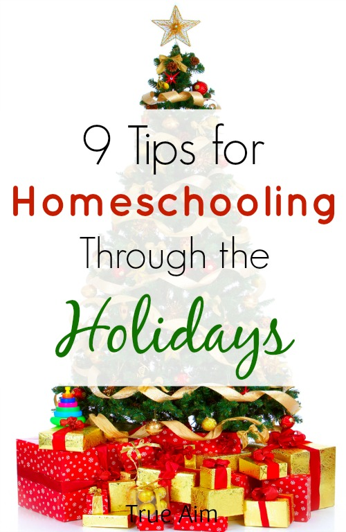 homeschooling through the holidays