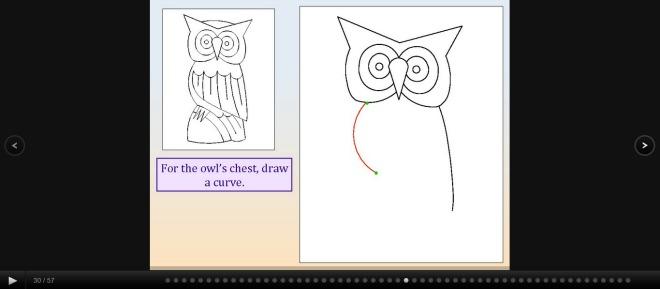 online art lessons screen shot