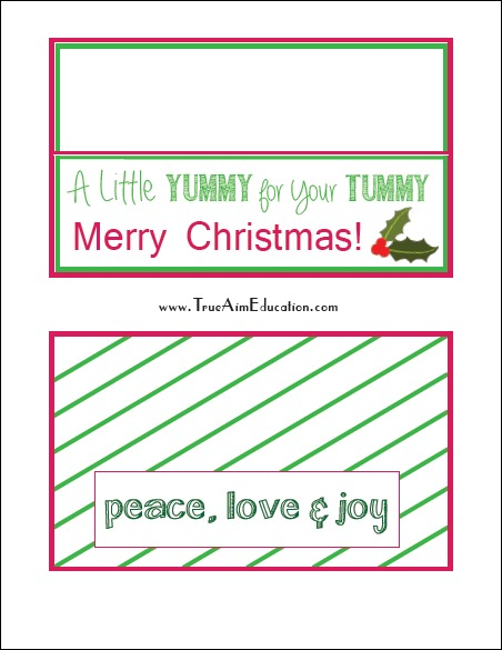 printable christmas snack gift bag tags