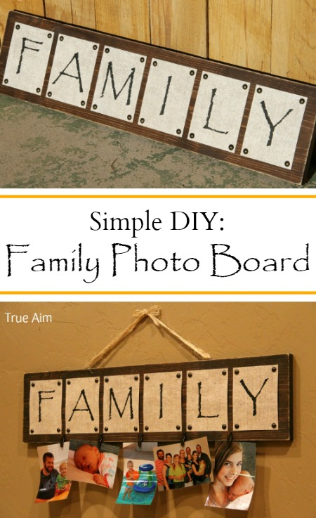 simple diy photo board project