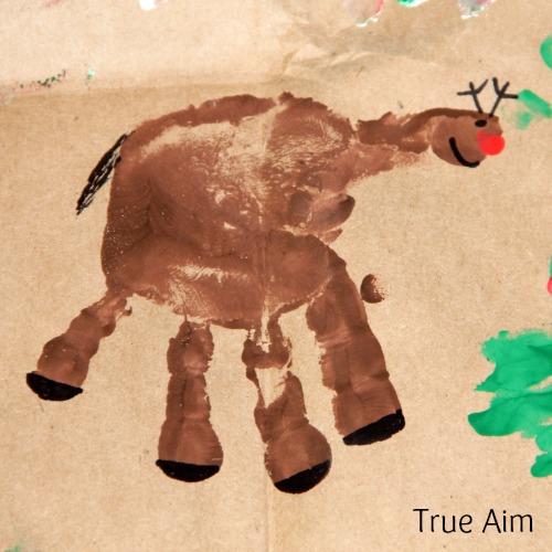 Christmas Handprint Art for Kids Rudolph Reindeer