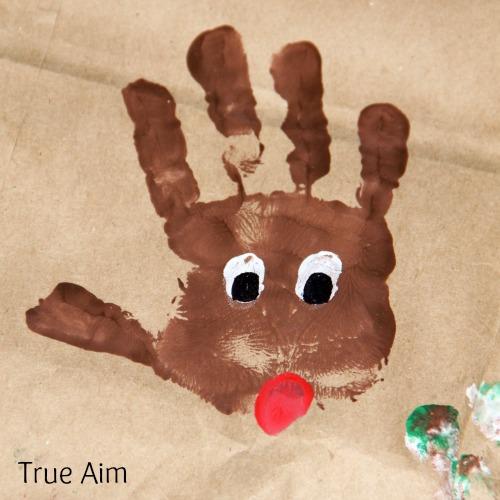Christmas Handprint Art for Kids Rudolph