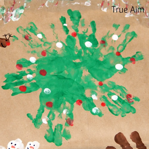 Christmas Handprint Art for Kids Wreath
