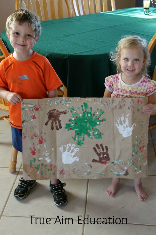 Christmas Handprint Wrapping Paper