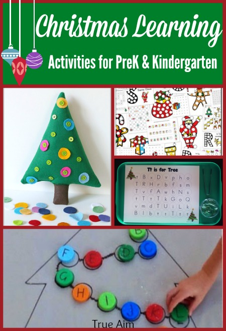 Preschool kindergarten christmas learning activities and for Christmas crafts for kindergarten students