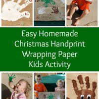 Homemade Handprint Christmas Wrapping Paper