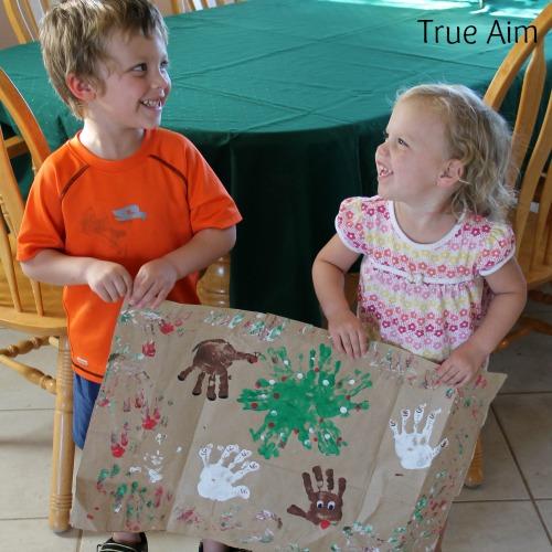 Homemade Fingerprint Wrapping Paper for Christmas