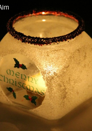 Christmas Craft for Kids: Frosted Candle Holder