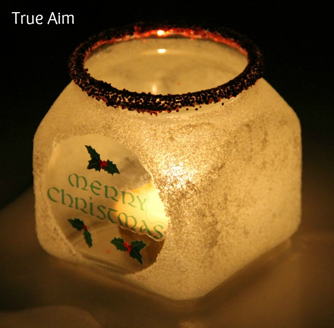 Merry Christmas DIY Frosted Candle Holder for Kids