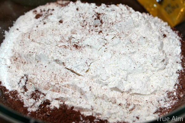 chocolate powder in pound cake