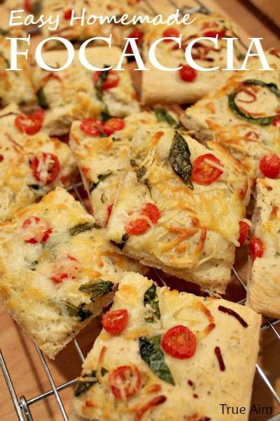 Easy Homemade Focaccia Flat Bread | True Aim
