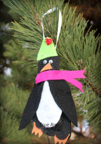 Felt Penguin Footprint Ornament