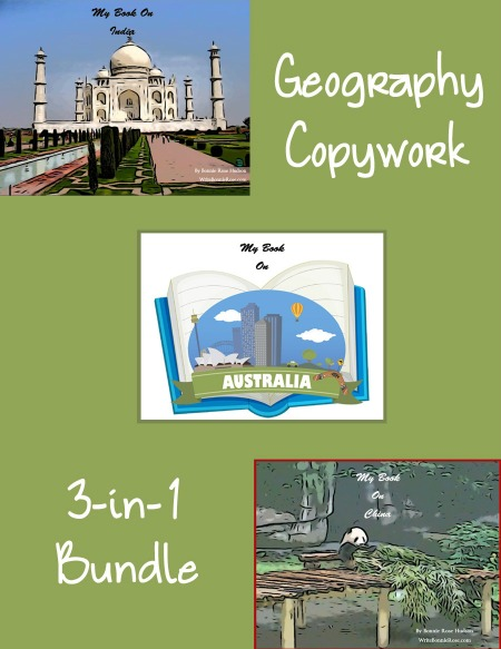Geography copywork freebie
