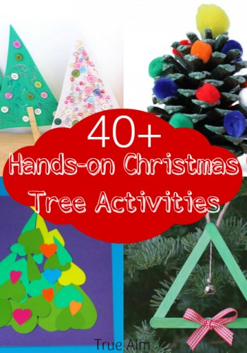 40+ Hands On Christmas Tree Activities for Kids and Mom's Library #119