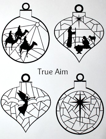 image relating to Ornaments Printable referred to as Stained Gl Nativity Ornaments Printable Correct Target