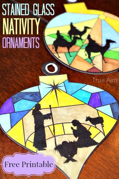 nativity ornaments printables