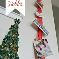 Easy Ribbon Christmas Card Display